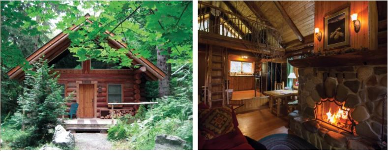 Cabins at Wellspring Spa near Mount Rainier. IMAGE: COURTESY WELLSPRING SPA
