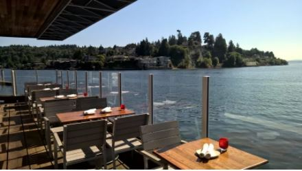 Enjoy a steak and eggs special at Ray's Boathouse while you contemplate whether or not the perfect view enhances the taste of brunch. IMAGE: RAY'S BOATHOUSE