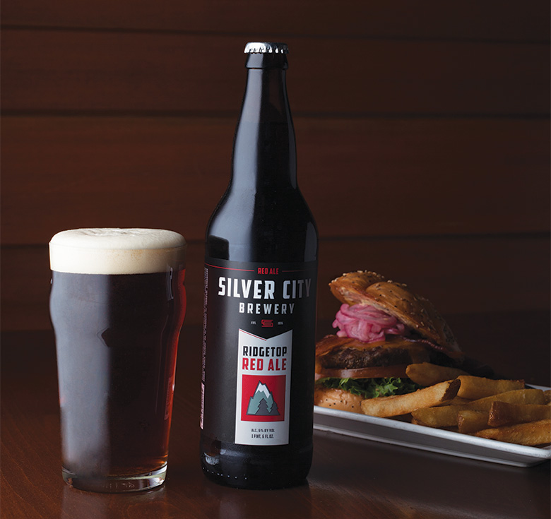 Photograph by Angela Ciccu. Silver city brewery's ridgetop red, winner of best amber/red ale