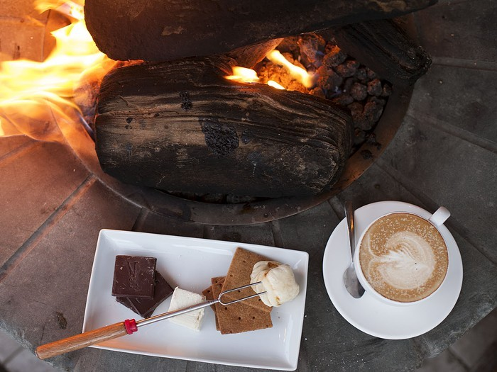 If you close your eyes, you can almost pretend you're still at camp—especially if you get one of Hot Cakes Molten Chocolate Cakery's limited edition s'mores kits.COURTESY OF HOT CAKES