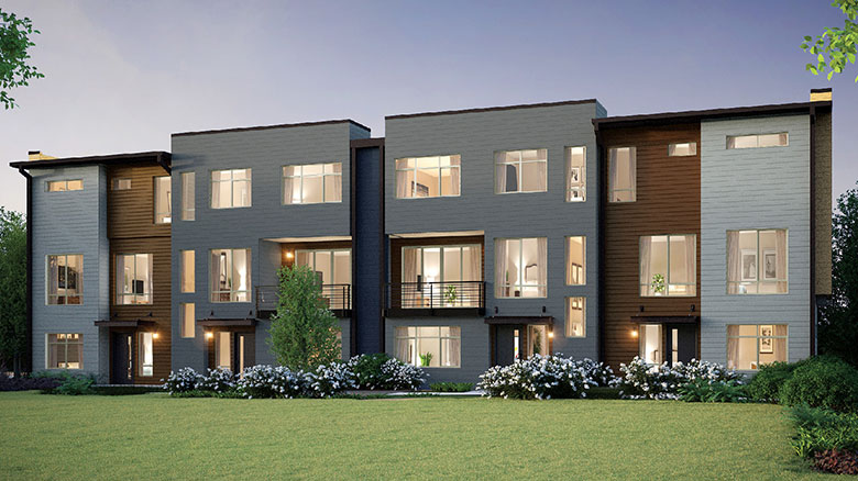 Image Credit:Navid Baraty Quadrant Homes; The company has three townhome sites, including Breva in Bellevue near the planned light-rail line.