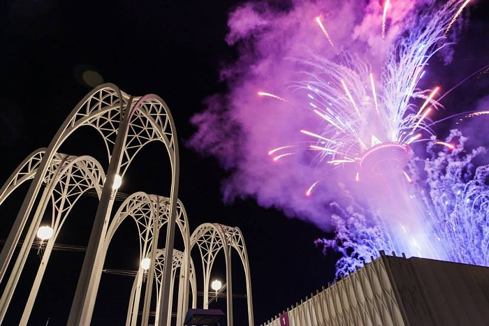 Drink, dance to KEXP DJs, and watch fireworks at the Pacific Science Center's opulent SPECTRA: New Year's Eve Under the Arches party. COURTESY OF PACIFIC SCIENCE CENTER