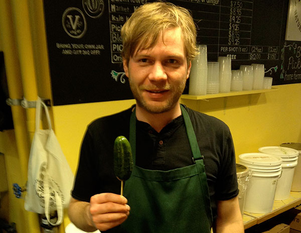 Andrew from Britt's shares a sour pickle.
