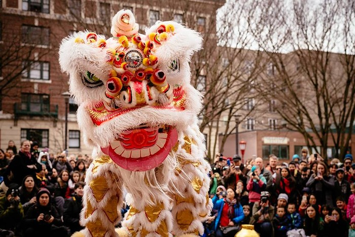 The  Lunar New Year in Chinatown festival is the biggest event in Seattle, complete with dragon and lion dances, taiko drumming, and the beloved $3 food walk.CHAM ROEUN BUNPHOATH