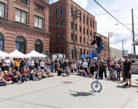 A typical Georgetown street fair.  IMAGE: PAUL CHRISTIAN GORDON