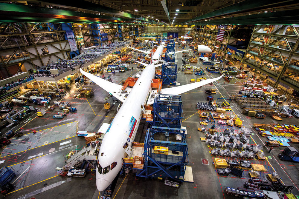 What rivets? Called the Dreamliner, Boeing's 787 plane uses composite materials in place of more traditional metals.  IMAGE: BOB FERGUSON / THE BOEING COMPANY
