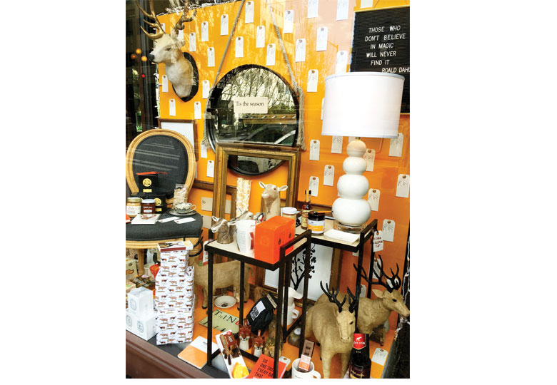 EYE CANDY:Ted Kennedy Watson has won awards for visual merchandising; the layers of goods in his shops (Watson Kennedy Fine Home is pictured here) invite customers to discover the perfect accessory for their home.Photograph by Ted Kennedy Watson.