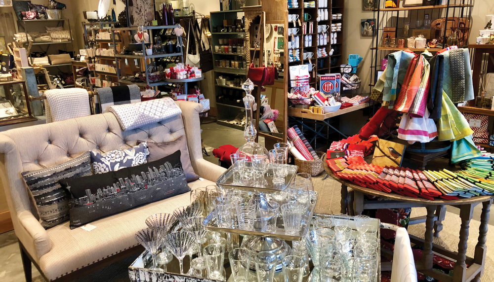 CREATIVE CLASS: Filled-to-the-brim Three Birds is the perfect place to shop for home gifts and decorations.  Photograph by Lindsay Kerekes.