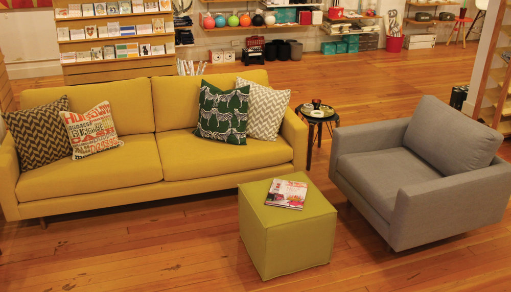 CLEAN LIVING: The aesthetic at Digs shows off the shop's modern furniture and home accessories.  Photo by Digs.