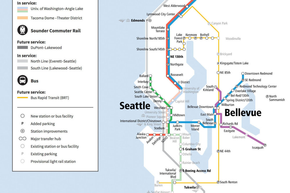 By 2024, Sound Transit intends to offer high-capacity bus service to communities along Lake Washington. Image courtesy Sound Transit