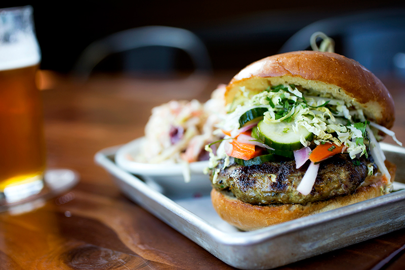 The Satay Turkey Burger from Beardslee Public House. Photo by Darren Zemanek.