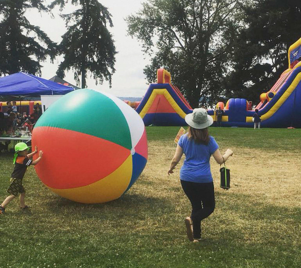 The 11-acre KidZone entertains children and adults with inflatables, activities and more. Photo via Facebook