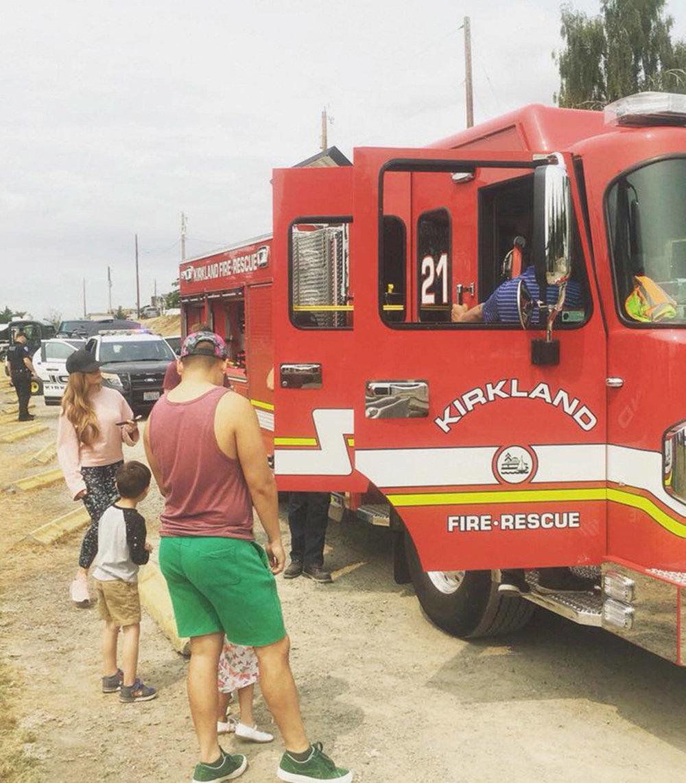 Kids get to Touch-a-Truck at Kirkland Summerfest. Photo via Facebook