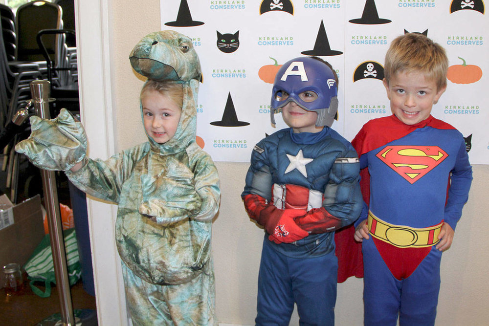 The children had a great time swapping new costumes. Photo courtesy of the City of Kirkland.