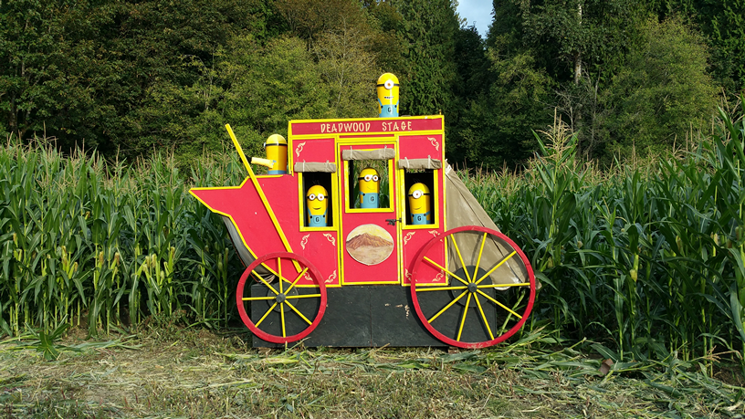 A Minion hayride at Craven Farm. Photo credit: Craven Farm