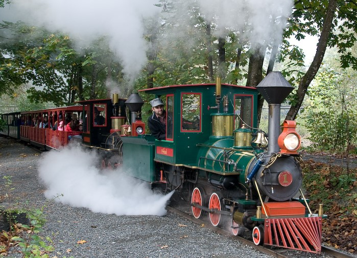 Steam train ride at Remlinger Farms. Photo credit: Remlinger Farms