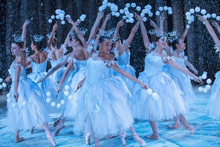 The Pacific Northwest Ballet will bring back the wintery magic of George Balanchine's     The Nutcracker    , starting this weekend. ANGELA STERLING