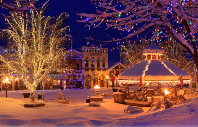 Find some snow (maybe) and illumination in Leavenworth.  IMAGE:  BRIAN MUNOZ