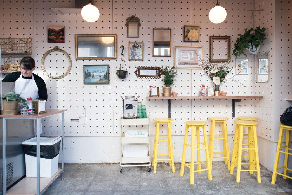 Westman's tiny sidewalk bagel shop.  IMAGE:  SARA MARIE D'EUGENIO