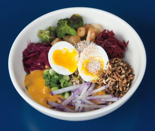 B-Side's grain bowl is equal parts tasty and photogenic.  IMAGE:  CHONA KASINGER