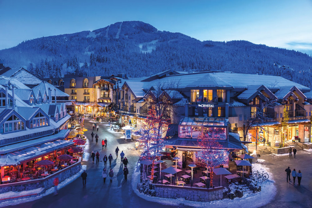 Whistler Village is a cozy hub at the base of Whistler and Blackcomb.  IMAGE:  COURTESY BRAD KASSELMAN / WHISTLER