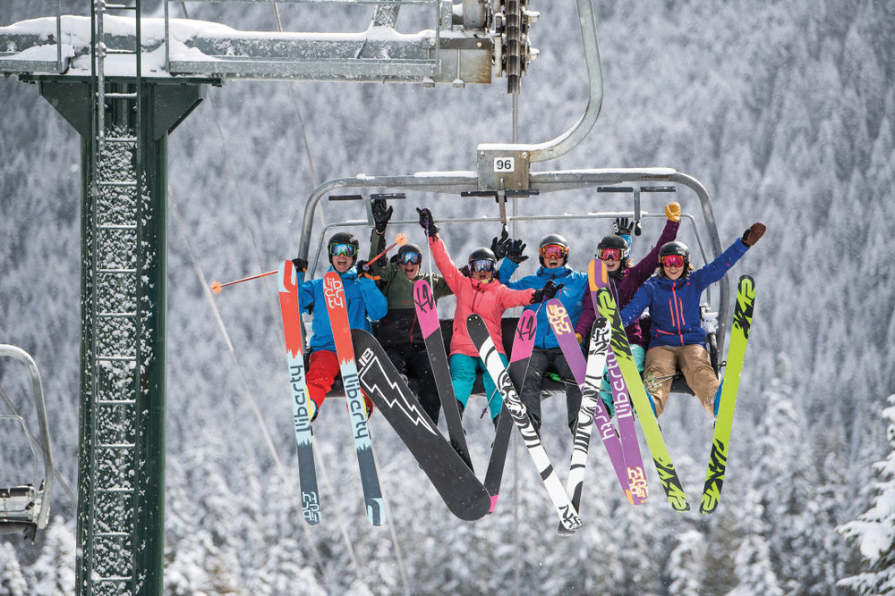 Crystal Mountain lift tomfoolery.  IMAGE:  COURTESY CRYSTAL MOUNTAIN RESORT
