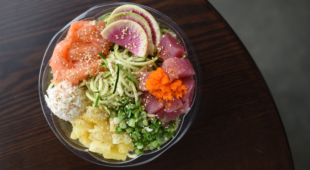 Poke 'Zoodle' Bowl | Just Poké. Photo by Jeff Hobson