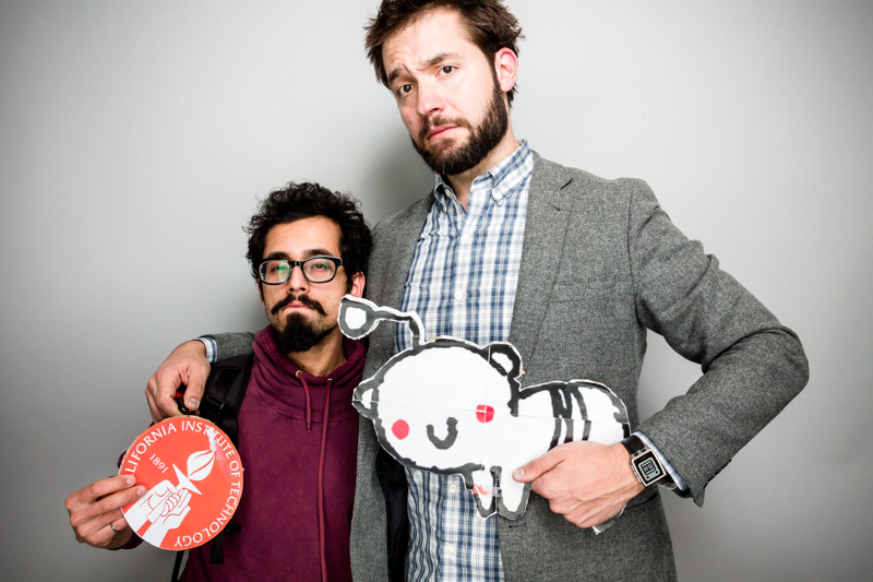 """I waste too much time on Reddit. I wanted to tell him how much I hate him for that."" Graduate Student Manan Arya (left) poses with Reddit co-founder Alexis Ohanian"