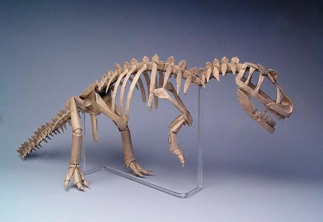 "ALLOSAURUS SKELETON, OPUS 326 16 uncut squares of Wyndstone Marble paper; 24"" COURTESY OF ROBERT LANG"