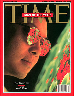 Ho was named TIme Man of the Year in 1996.     Images courtesy of David Ho; the Aaron Diamond Research Center