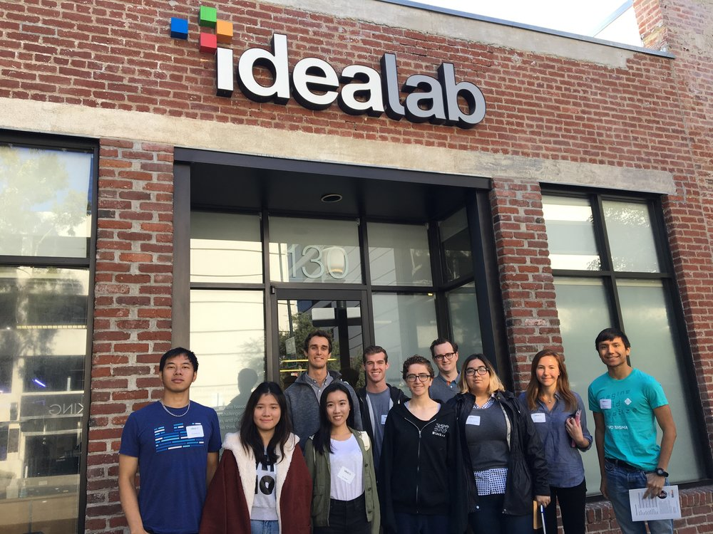 Our first TecherTrek was hosted by Gladys Kong (BS '92), who took students on a tour of Idealab, a technology incubator founded by Bill Gross (BS '80).