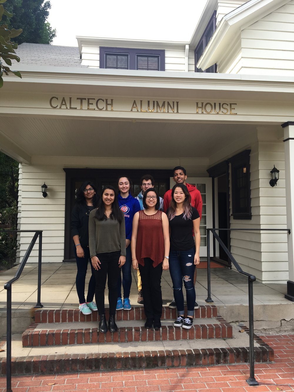 Undergraduate Student Alumni Committee. Top row: Tanvi Gupta, Liana Merk, Jules Oppenheim, and Sarang Mittal. Bottom row: Ruchi Pandya, Diandra Almasco, and Sarah Cai. Not pictured: Caroline Atyeo, Robin Brown, Sunny Cui, Ciara Ordner, Vaishnavi Shrivastava, Praful Vasireddy, and Daniel Xu.