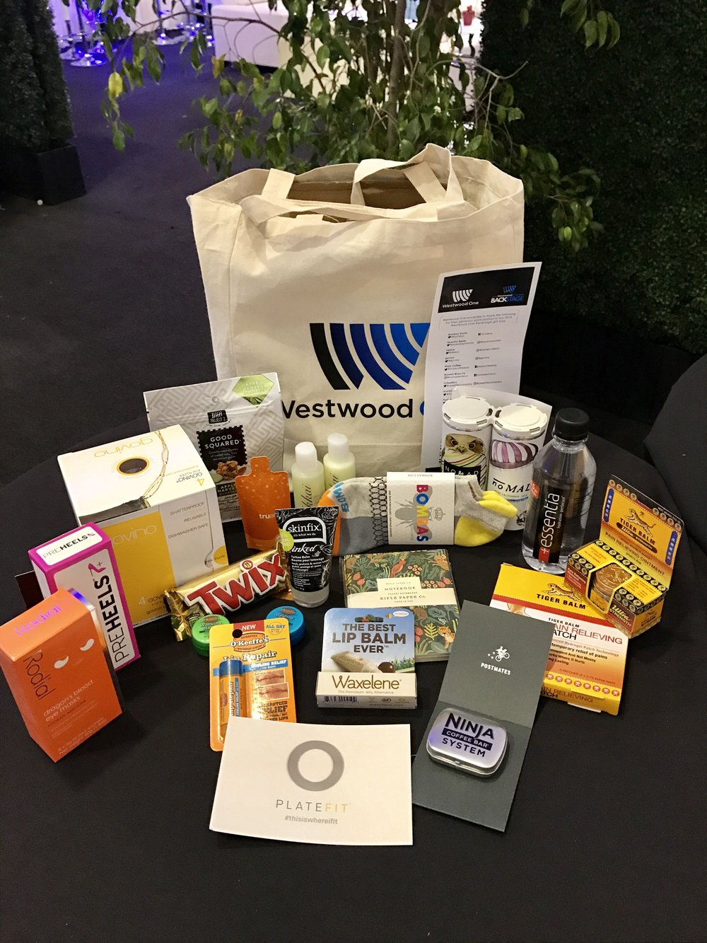 The biggest names in music from the American Music Awards (nominees, presenters and performers) took home these gift bags with them backstage- November 2016