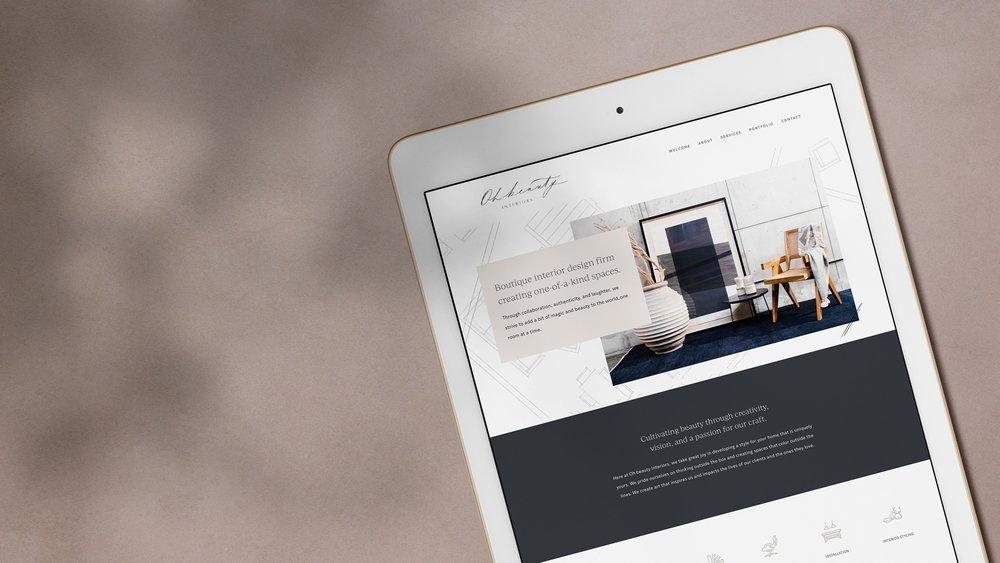 OH BEAUTY INTERIORS - PROJECTBrand Strategy, Logo Design, Web Development, Digital Marketing