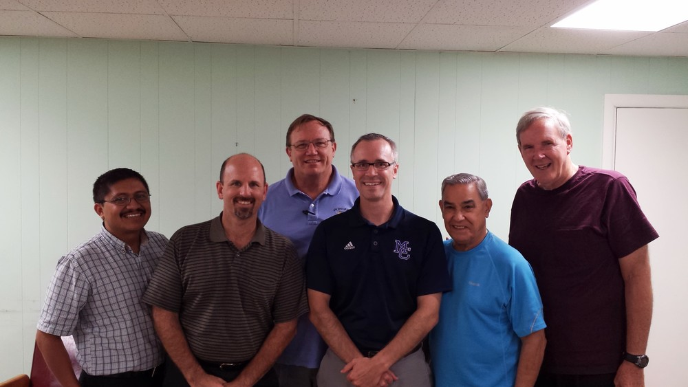 Here I am with the leadership team of the Missionary Servants of the Most Holy Trinity- a terrific day!