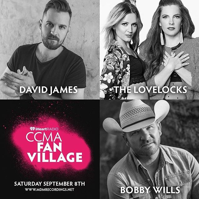 GIVEAWAY TIME!! Ok you guys, we have 5 passes of 2 tickets each to give away to the @ccmaofficial Fan Village stage we are playing with @davidjamesmusic and @bobbywillsmusic on Saturday, Sept. 8th at 1pm in downtown #Hamilton. 5 lucky winners will be randomly selected to win access to the VIP Lounge to watch the show! Leave us a comment below as to why you want to win your way into the VIP Lounge and tag the +1 you want to bring with you. Winners will be announced this Friday at noon EST. 🤗🎊🙌🏽