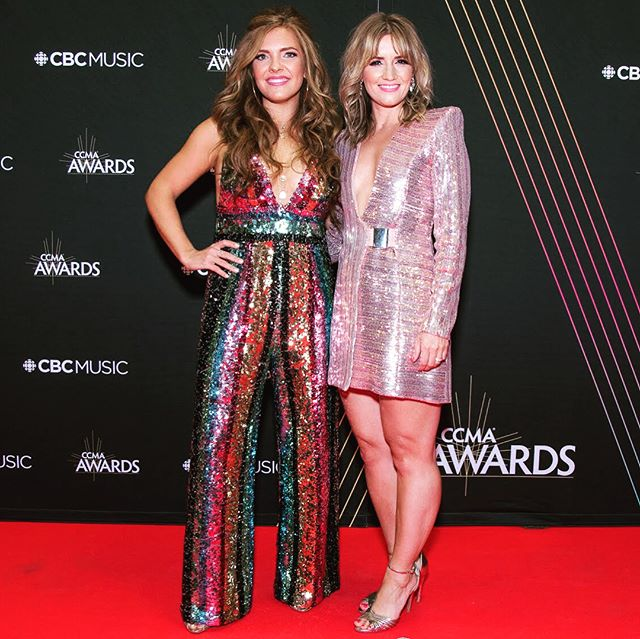 This weekend marked the 5th year in a row that we've walked the carpet as CCMA award #nominees. ✨ It never feels normal and is always surreal, but most definitely we are so grateful to make music and to know that people enjoy the music that we have made. 🎶 Congrats to all of this year's winners and big love to the @ccmaofficial team for an incredible show! And just for fun 🙊 swipe right to see all of our red carpet looks from the years gone by!! 💄👗👠💅🏼➡️