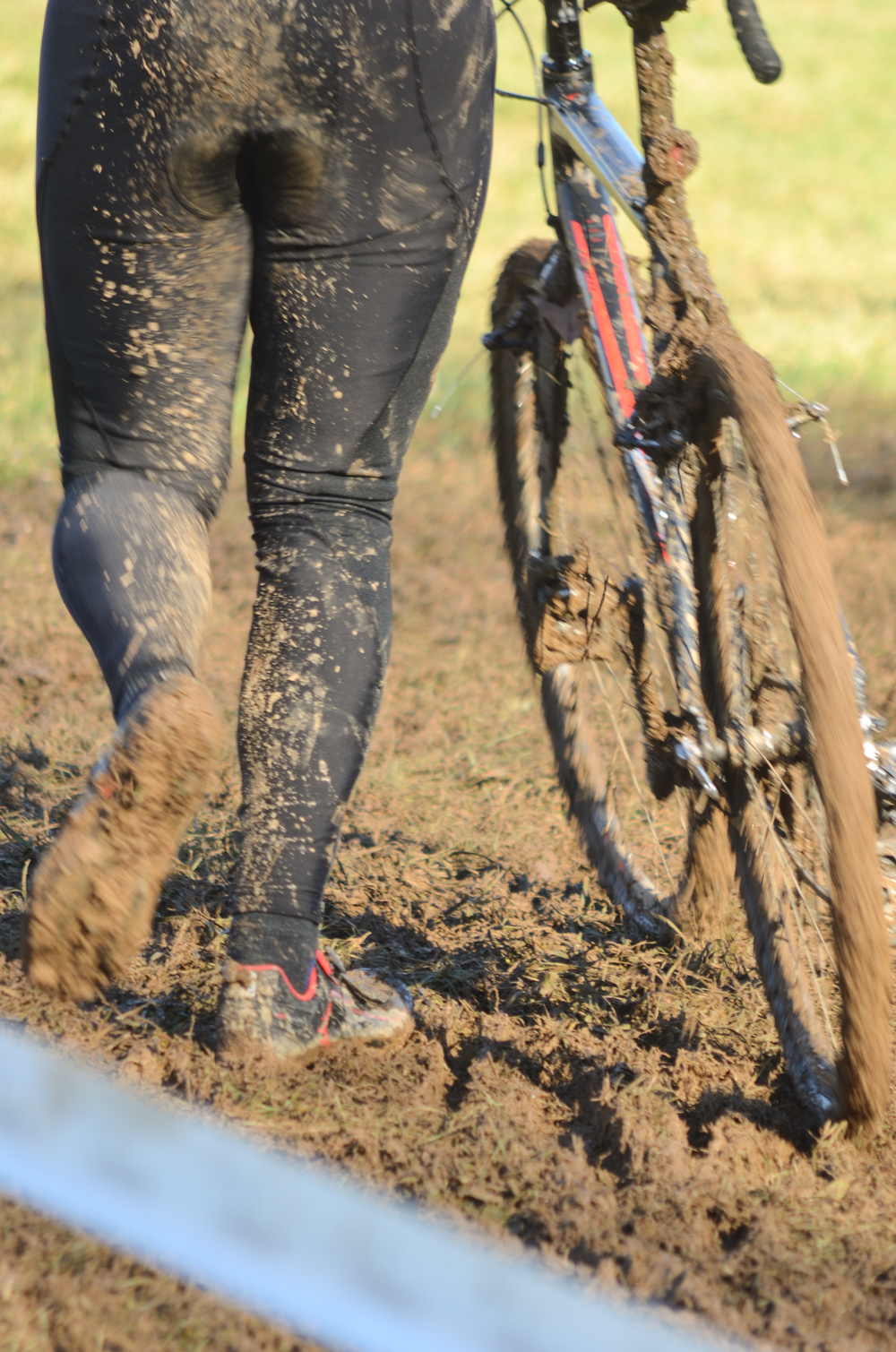 Mud saps energy, gums up the brakes and gears, and makes the bike feel like a hundred pounds.