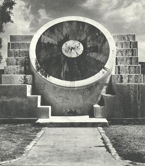 Vrihat Samrat Yantra, the worlds largest sundial at Jaipur Observatory. Completed in the year 1734, it still stands today through the efforts of restoration and reconstruction accurate to two seconds.