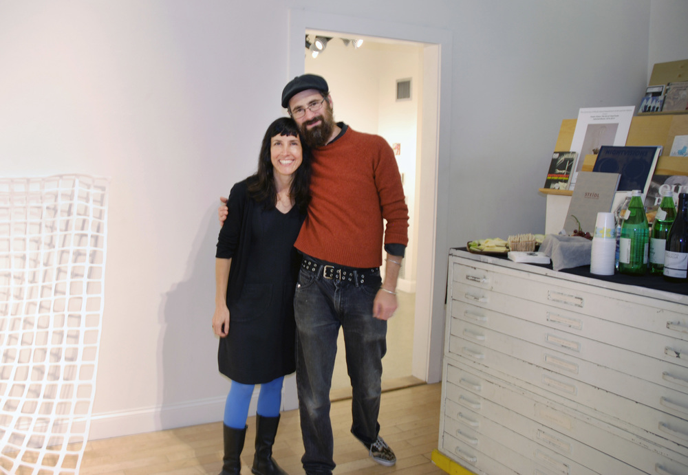 Lisa Perez, Project Space artist with Neal Walsh, AS220 Gallery Director.