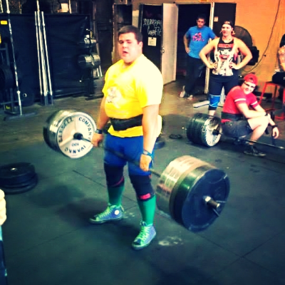 Here is Jeff deadlifting during the IBCF Strongman Demonstration.