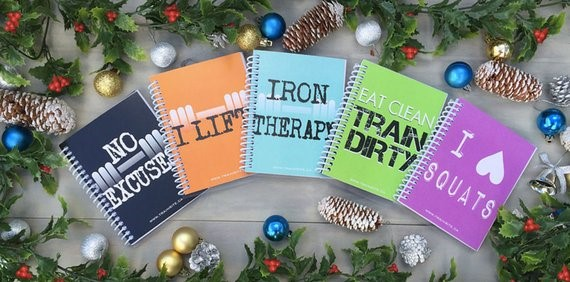 Dear Diary   Coach Stephanie Vermeychuk suggests a workout journal to track your highs, lows and RX weights and times. I found some cute (or rugged) ones on Etsy. Like these from the TrainRite00 shop.