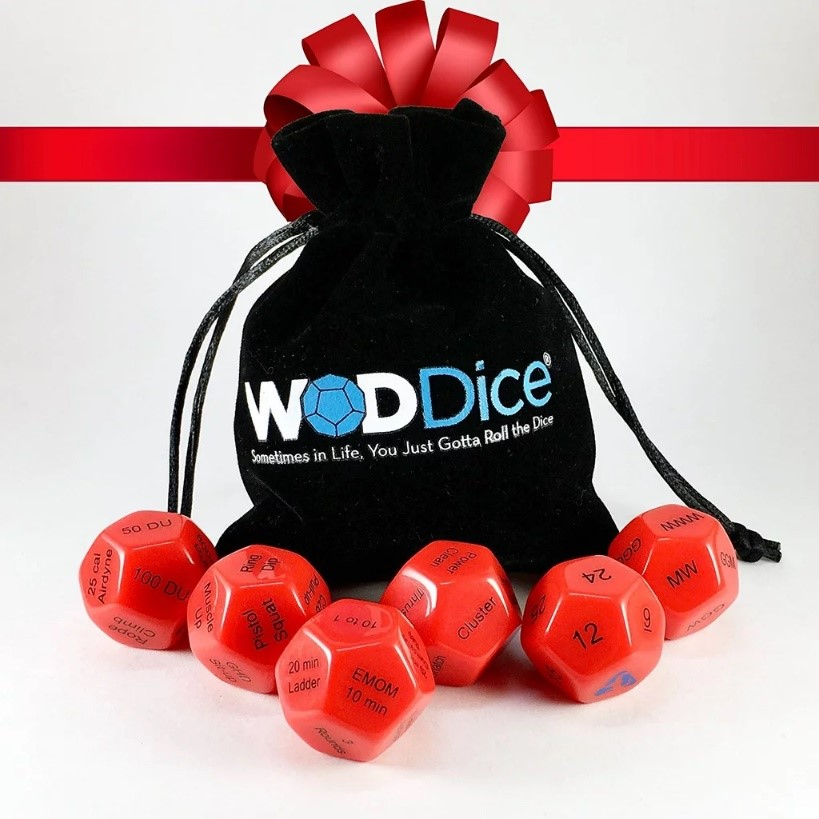 WODDice - A roll of these dice generates a random workout! Put CrossFit's claim that it prepares athletes