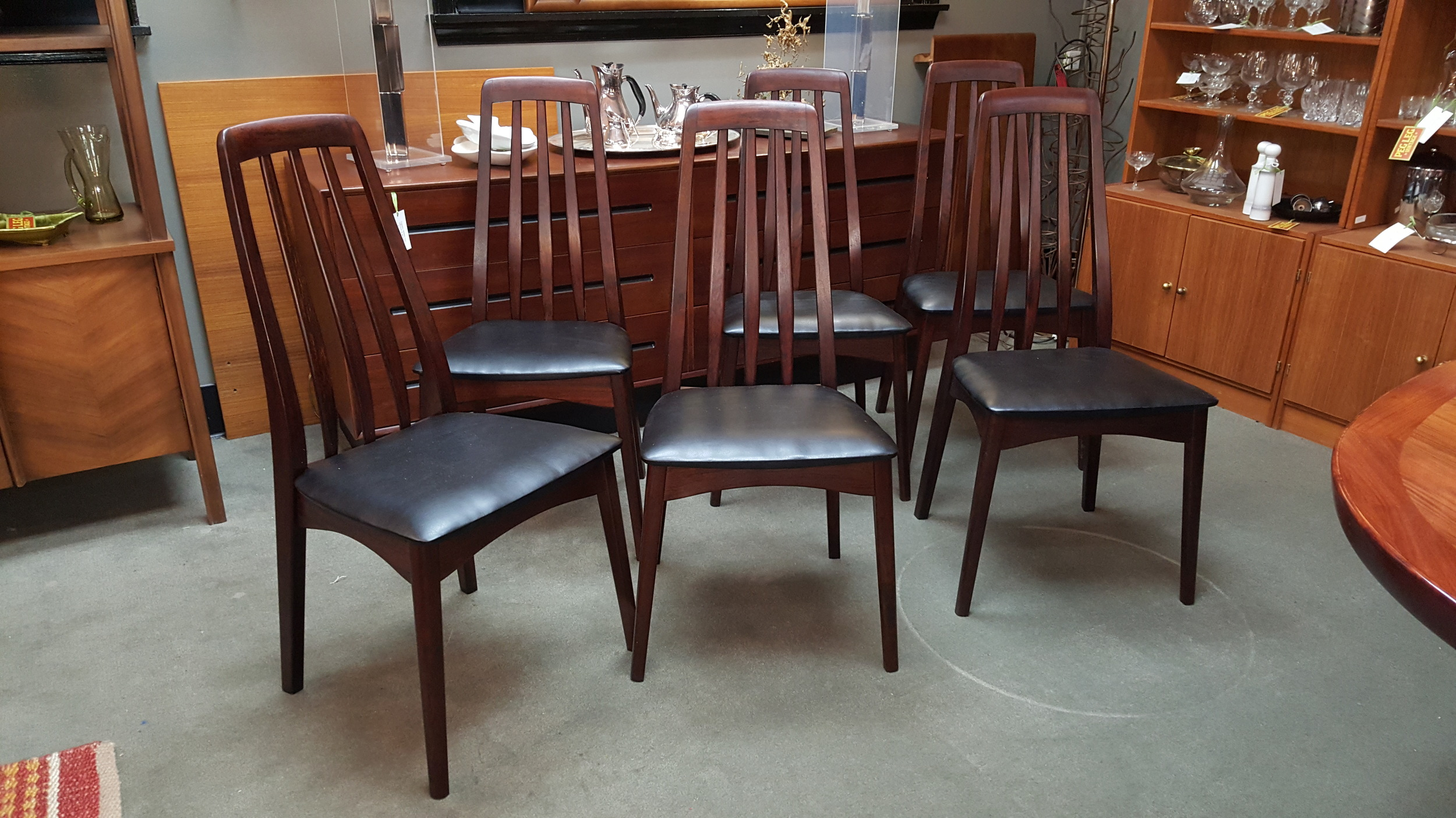 Set Of 6 Danish Modern Brazilian Rosewood Dining Chairs By Svegards Markaryd Sweden