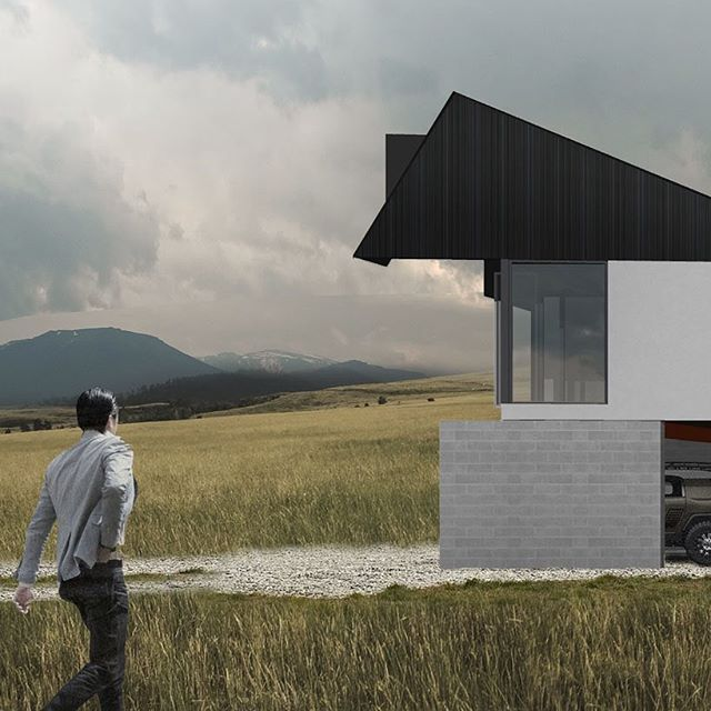 Set in a rural landscape, this house sits on and digs into the land. The form of the building is folded and cut away in places to frame particular views. . A tall, rectangular aperture frames an expansive view from the living room towards the steeply-sloping eastern landscape. Combined with floor-to-ceiling glazing, the proportion of the aperture shifts the perspective from horizontal to vertical—emphasising the slope of the landform below. . . . . #NZarchitecture #nzdesign #NewZealand #architecture #modernarchitecture #archilovers #arquitectura #architecture_hunter