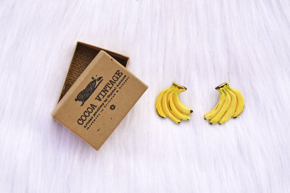 Banana Earrings Cocoa Vintage.JPG