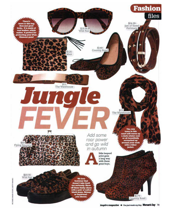 Mooi Jem Leopard in Woman's Day March 2013