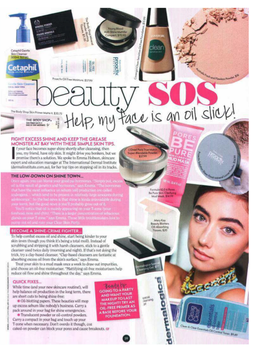 Youngblood Antishine mattier - Girlfriend Magazine May 2013