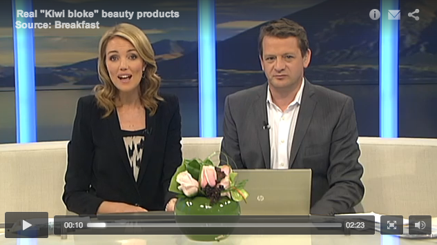 DirtyMan Skincare on TVNZ Breakfast