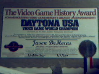 Received an award in person from Walter Day.